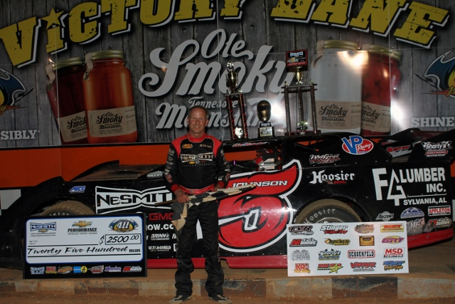 JOHNSON DOUBLES UP IN NeSMITH CHEVROLET DLMS 411 MOTOR SPEEDWAY RACES