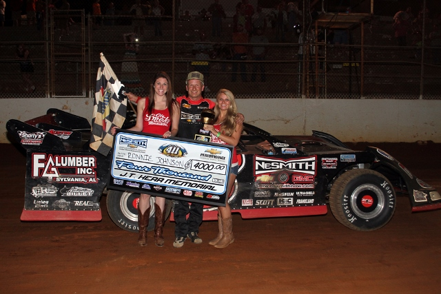 johnson wins 2nd straight j t kerr memorial 40 at 411 motor speedway durrence layne touring. Black Bedroom Furniture Sets. Home Design Ideas